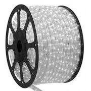 Mangueira 110V LED Branco Frio Rolo 100m com 5 tomadas