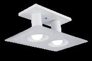 Plafon Multhi Quadrado 2 Bc/Bc Com Vidro Espelhado Startec
