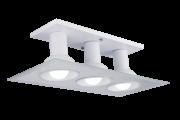 Plafon Multhi Quadrado 3 Bc/Bc Com Vidro Espelhado Startec