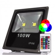 Refletor Led 100W RGB Uso Externo