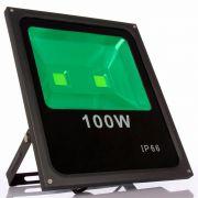 Refletor Led 100W Verde Uso Externo