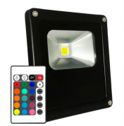 Refletor Led 10W RGB Uso Externo