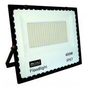 Refletor Led Modelo Moderno 400W Branco Frio Uso Externo