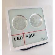 Refletor Led Slim SMD 50W Branco Frio Uso Externo Carcaça Branca