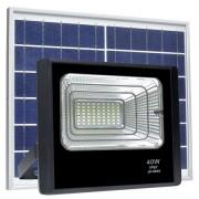 Refletor LED Solar 40W Branco Frio
