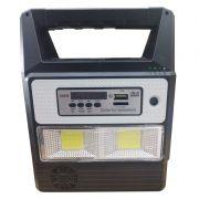 Refletor LED Solar Para camping com MP3 e lâmpadas