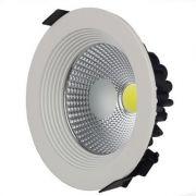 Spot LED COB 07w Embutir Redondo Branco Quente