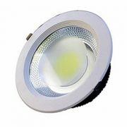 Spot LED COB 12w Embutir Redondo Branco Quente