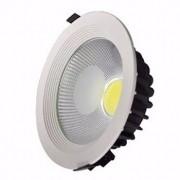 Spot LED COB 15w Embutir Redondo Branco Frio