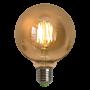 Lâmpada de Filamento de LED G95 Spiral 4W 110V Dimerizável