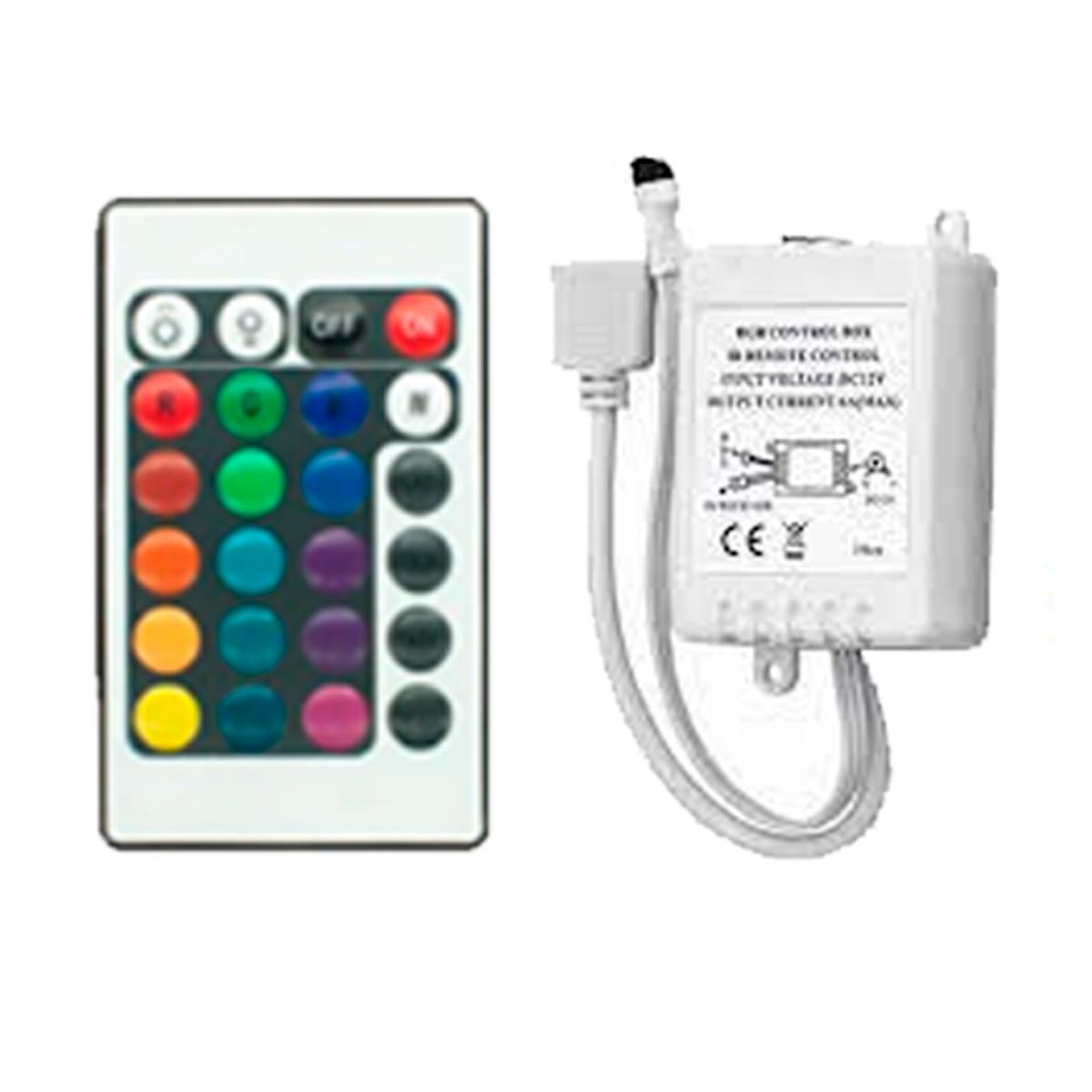 Controladora + controle Fita de LED RGB 3528