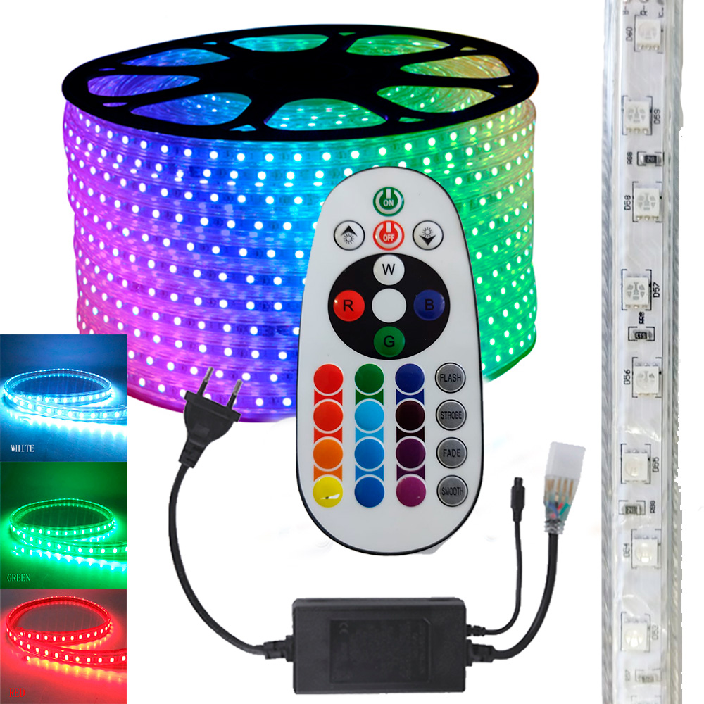 Fita LED RGB 5050 10m Premium Grossa Resistente C/ Fonte