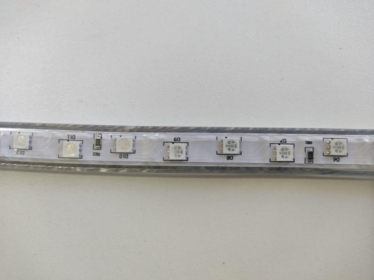 Fita LED RGB 5050 20m Premium Grossa Resistente e Fonte 220v