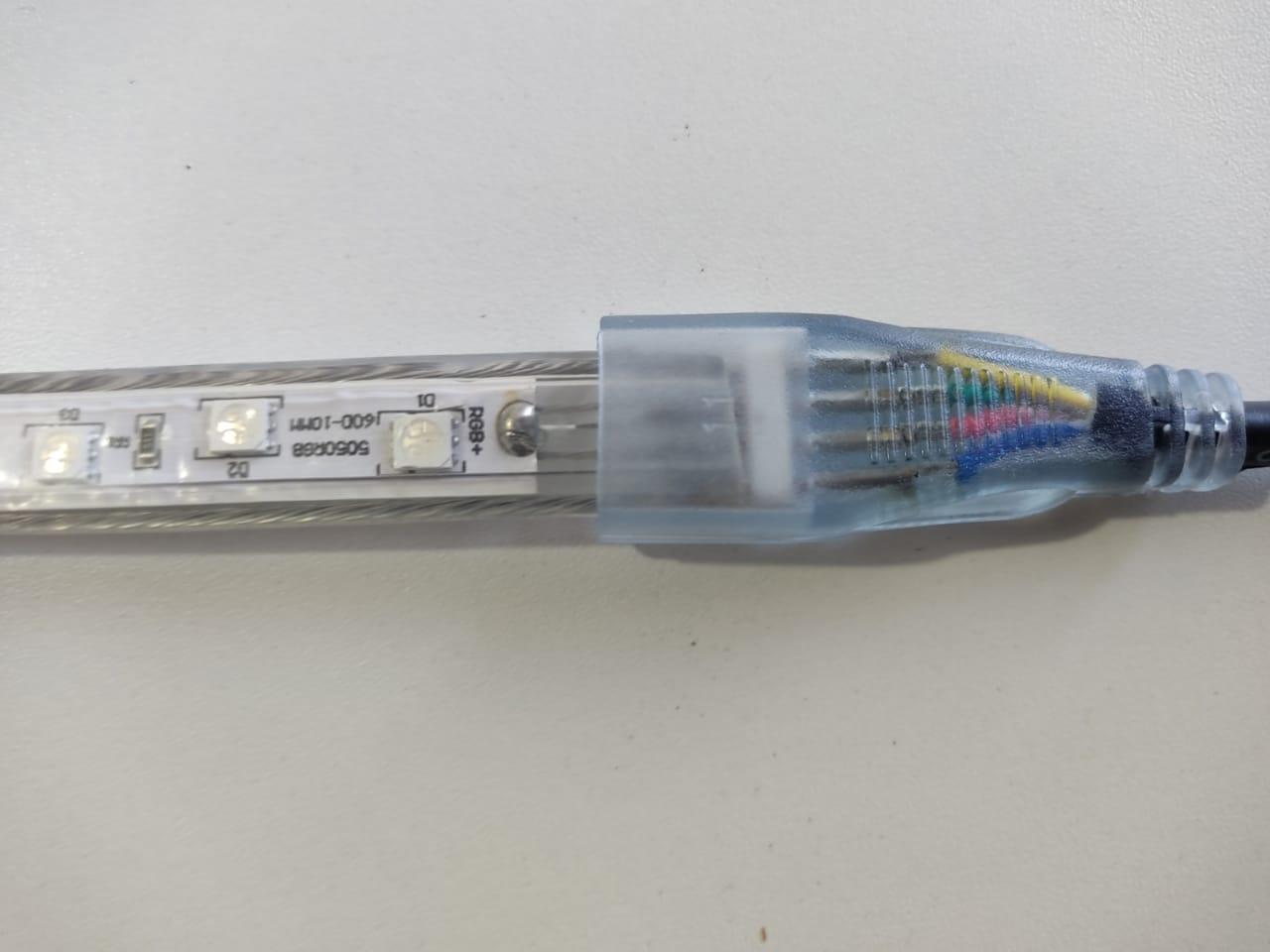 Fita LED RGB 5050 24m Premium Grossa Resistente C/ Fonte