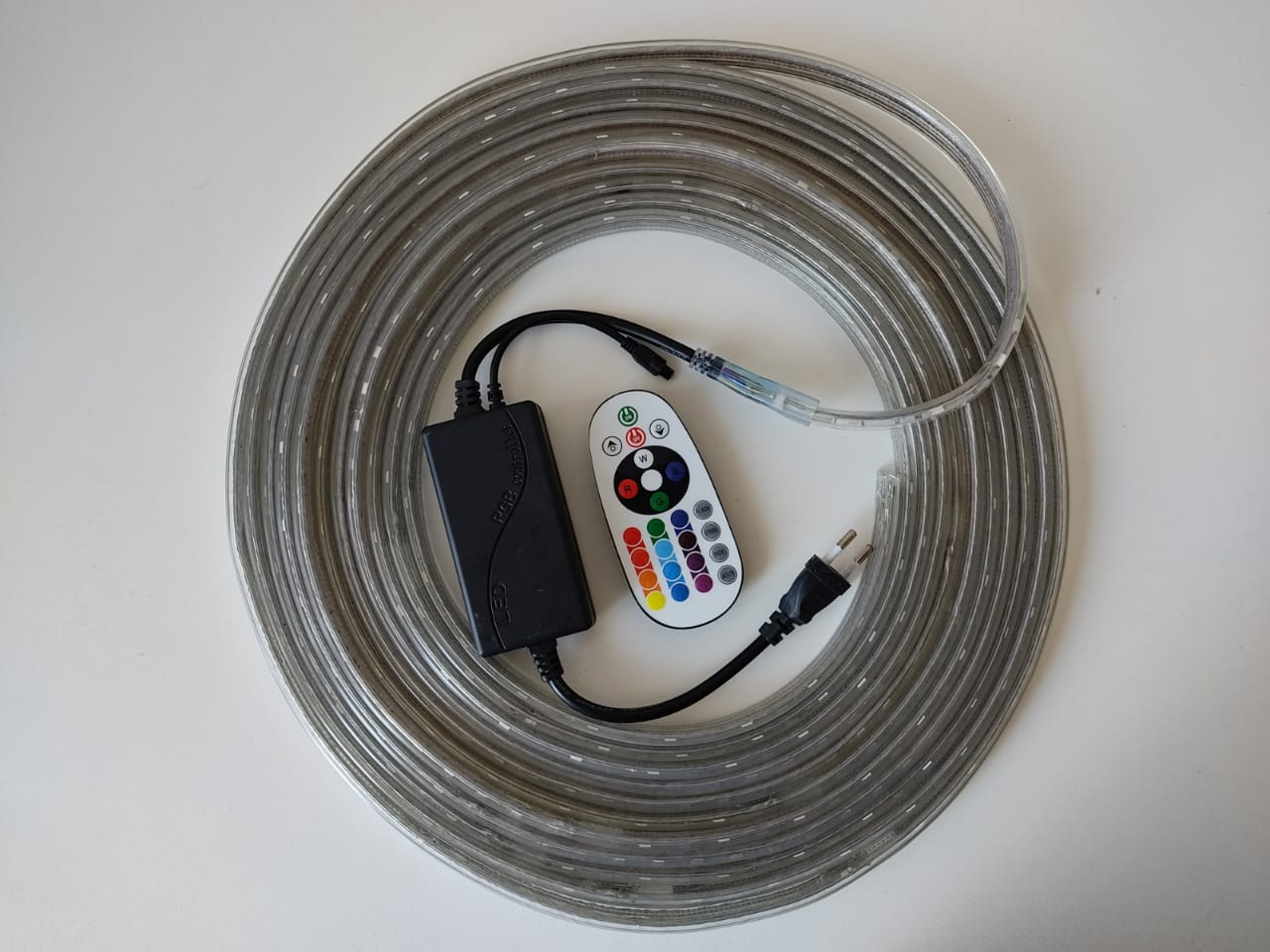 Fita LED RGB 5050 8m Premium Grossa Resistente C/ Fonte