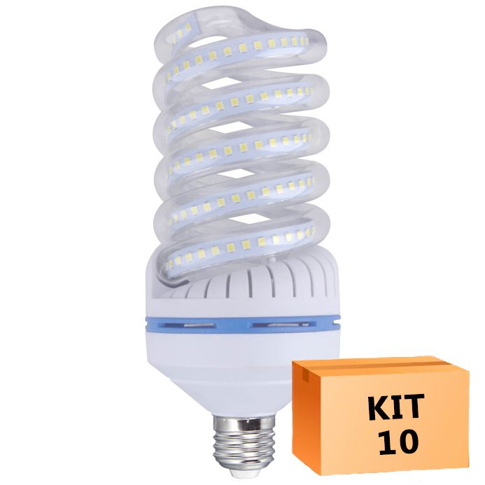 Kit 10 Lâmpada Led Espiral 30W