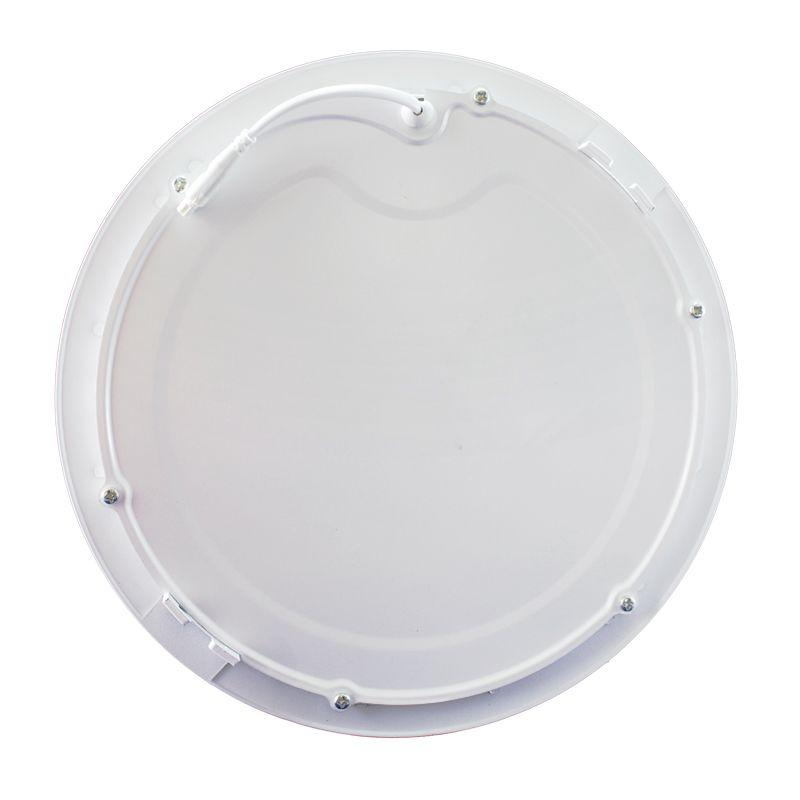 Kit 10 Plafon Led de Embutir Redondo 18W - 22 cm Branco Quente 3000K