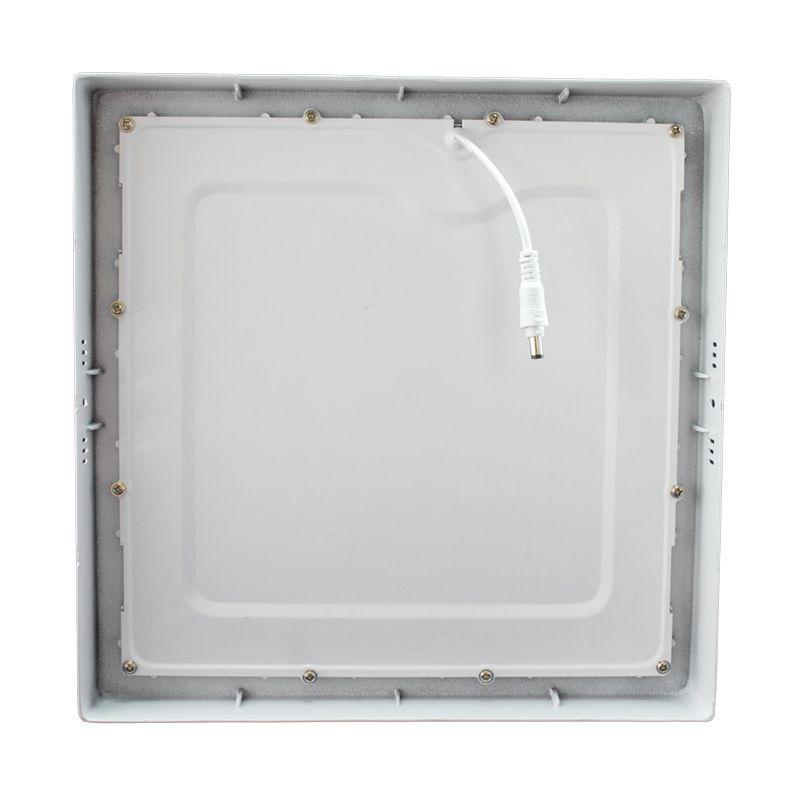 Kit 10 Plafon Led de Sobrepor Quadrado  32W - 30 x 30 cm Quente 3000K