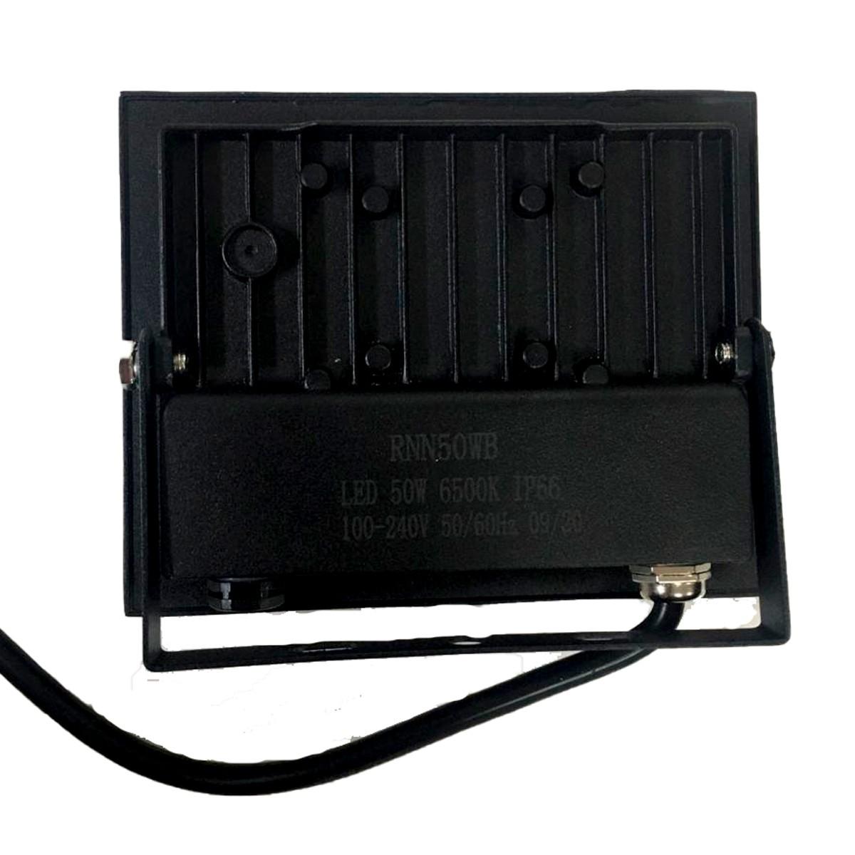 Kit 10 Refletor Led Slim 50W Branco Frio Uso Externo Com Garantia