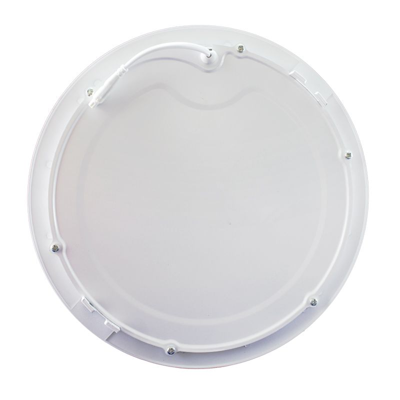 Kit 12 Plafon Led de Embutir Redondo 18W - 22 cm Branco Quente 3000K