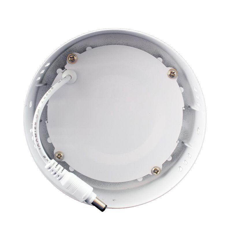 Kit 12 Plafon Led de Sobrepor Redondo  06W - 12 cm Branco Frio 6000K