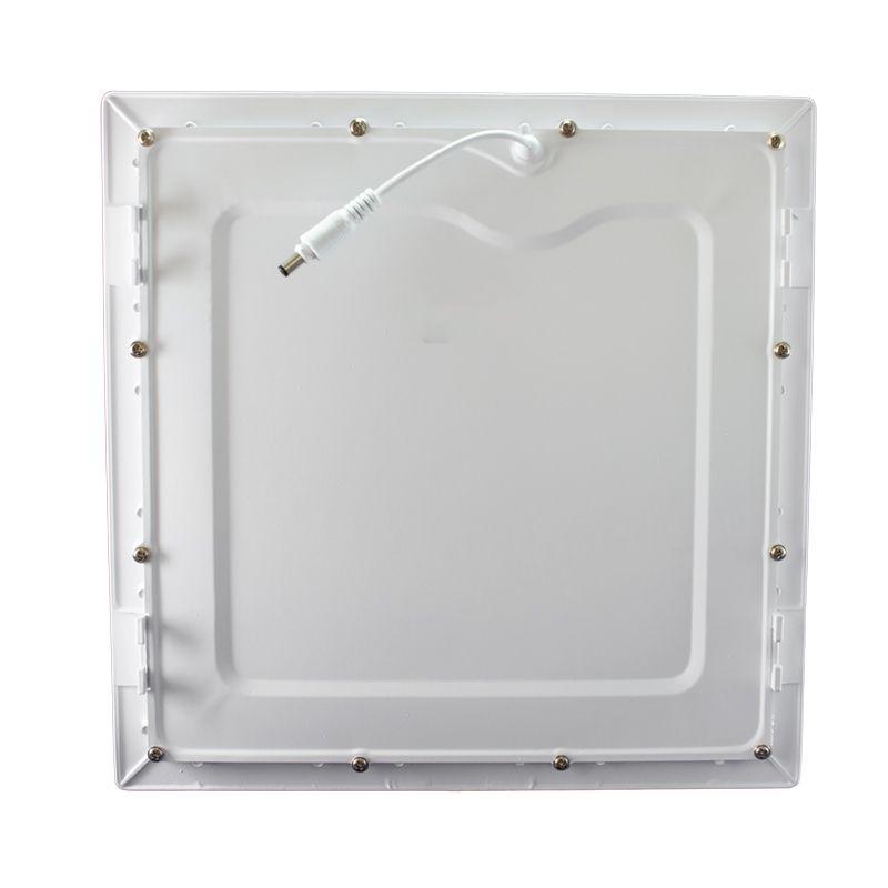 Kit 15 Plafon Led de Embutir Quadrado  24W - 30 x 30 cm Quente 3000K