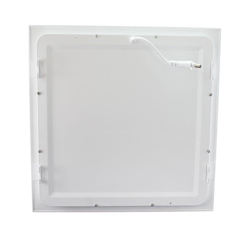 Kit 15 Plafon Led de Embutir Quadrado  32W - 30 x 30 cm Quente 3000K