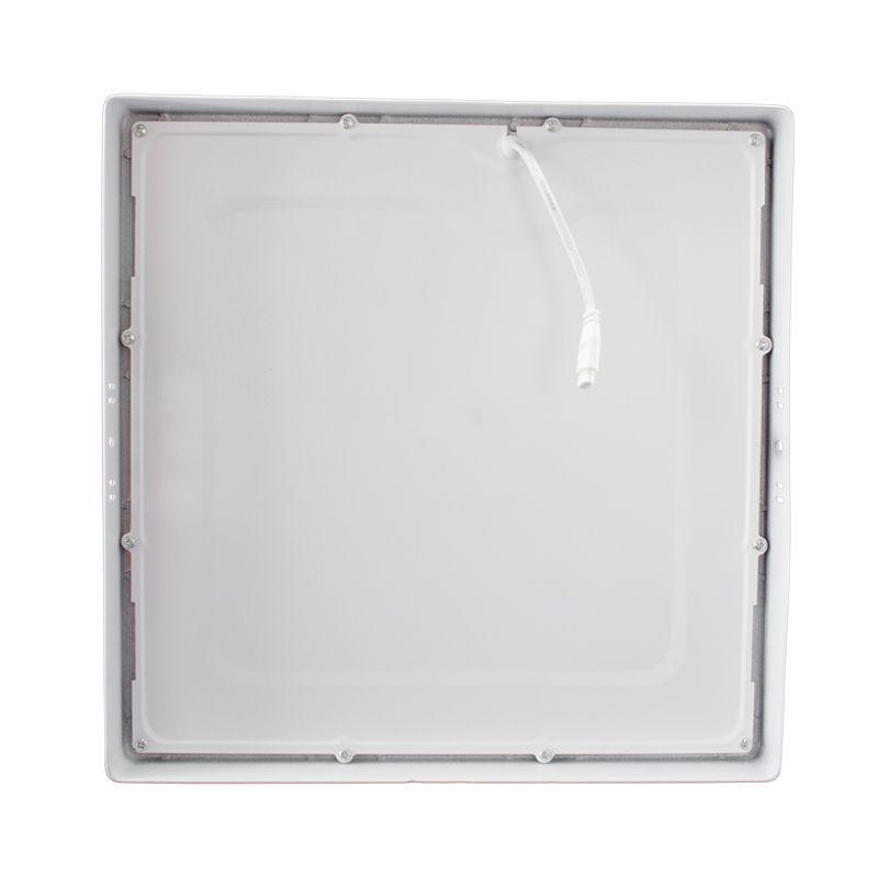 Kit 15 Plafon Led de Sobrepor quadrado  24W - 30 x 30 cm Branco frio 6000