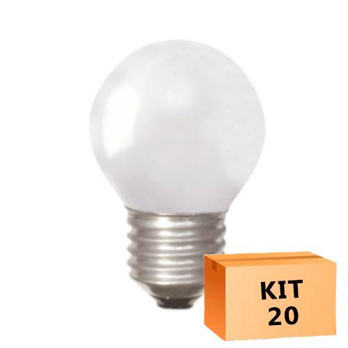 Kit 20 Lâmpada Led Bolinha 1W 110V Laranja