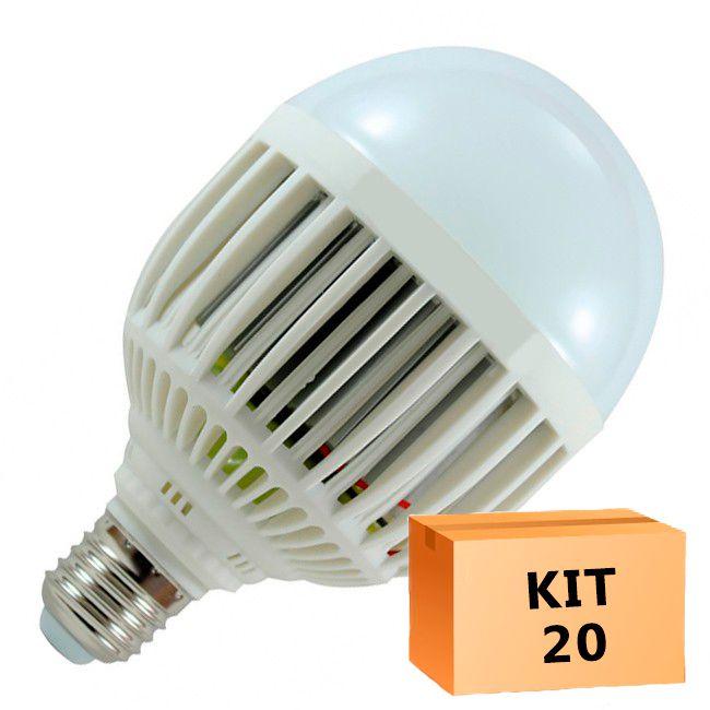 Kit 20 Lâmpada Led Bulbo 15W Branco Quente