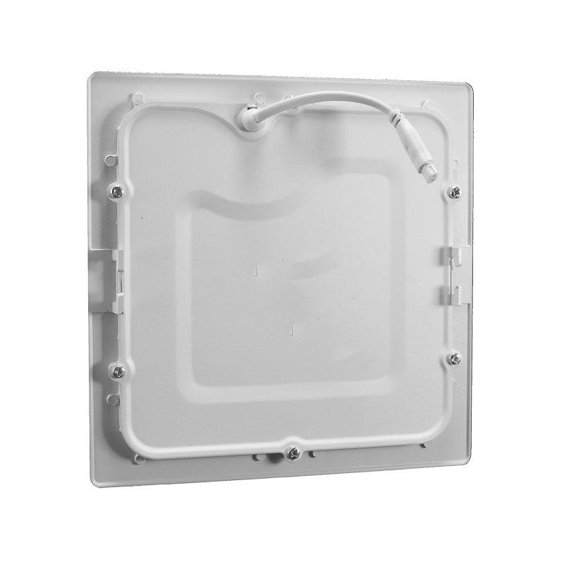 Kit 20 Plafon Led de Embutir Quadrado  18W - 22 x 22 cm Quente 3000K