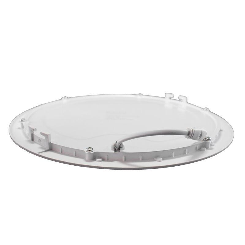 Kit 20 Plafon Led de Embutir Redondo 18W - 22 cm Branco Quente 3000K