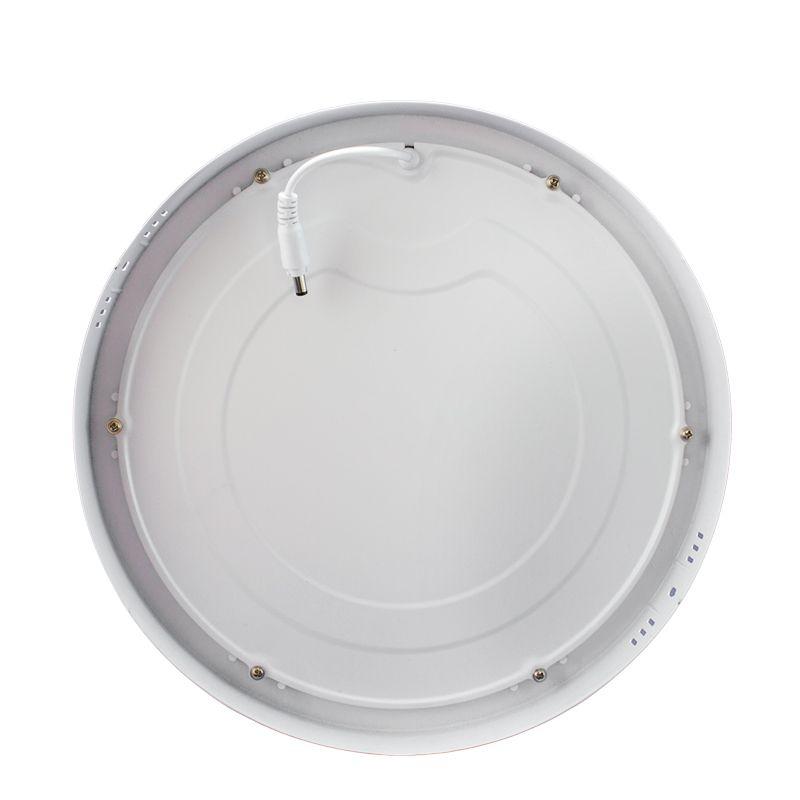 Kit 20 Plafon Led de Sobrepor Redondo  32W - 30 cm Branco Quente 3000K