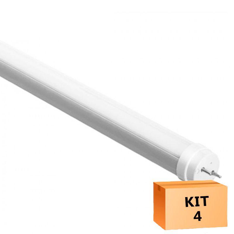Kit 4 Lâmpada Led Tubular T5 16W 115 cm bivolt - Branco Quente
