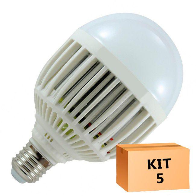 Kit 5 Lâmpada Led Bulbo 15W Branco Frio