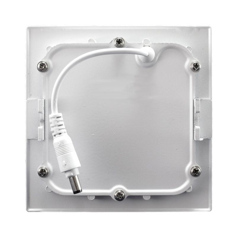 Kit 5 Plafon Led de Embutir Quadrado  06W - 12,5 x 12,5 cm Branco Frio 6000K