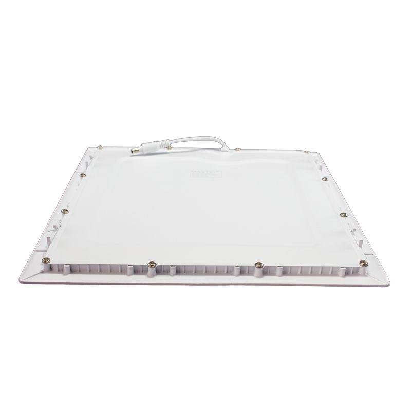 Kit 5 Plafon Led de Embutir Quadrado 24W - 30 x 30 cm Branco Frio 6000K