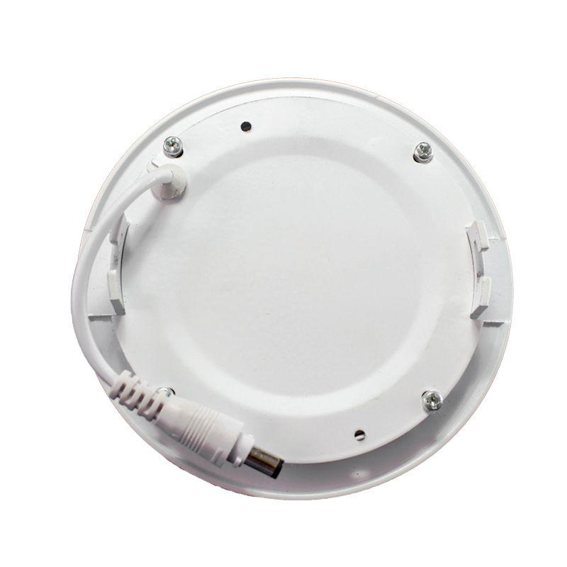 Kit 5 Plafon Led de Embutir Redondo  06W - 12,5 cm Branco Frio 6000K