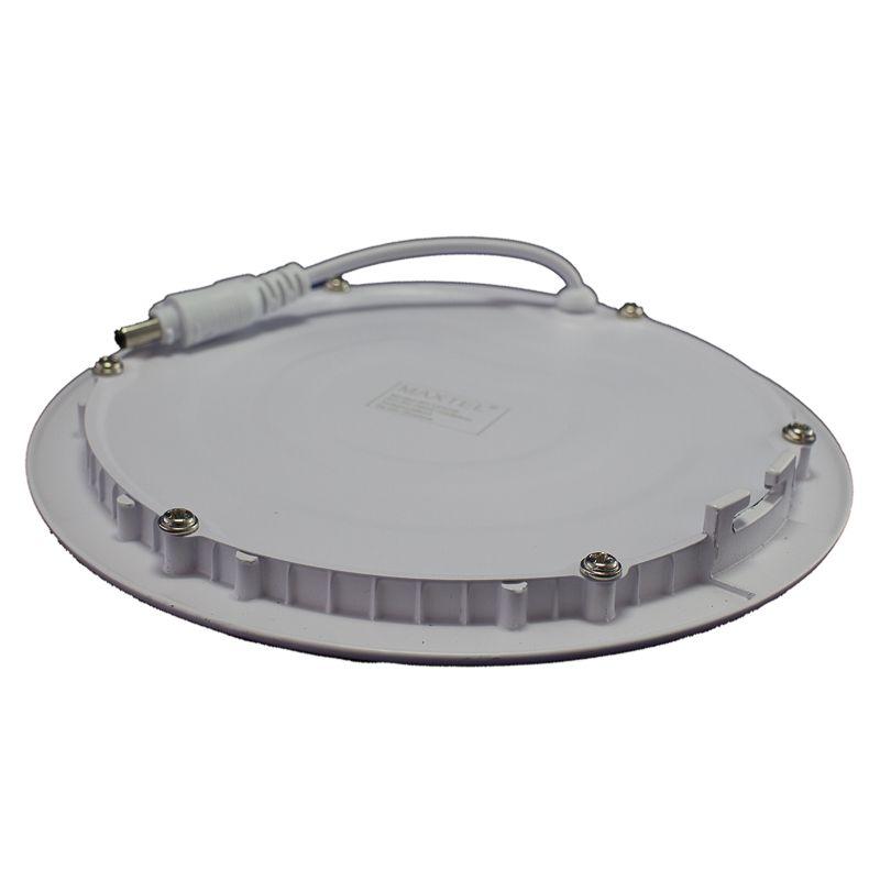 Kit 5 Plafon Led de Embutir Redondo  12W - 17,5 cm Branco Frio 6000K