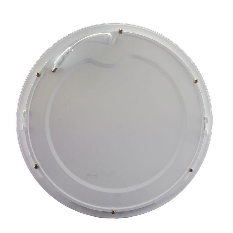 Kit 5 Plafon Led de Embutir Redondo  24W - 30 cm Branco Frio 6000K