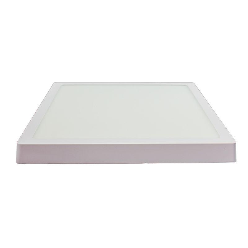Kit 5 Plafon Led de Sobrepor quadrado  24W - 30 x 30 cm Branco frio 6000K