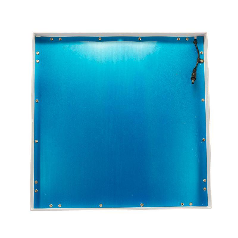 Kit 5 Plafon Led de Sobrepor Quadrado  36W - 40 x 40 cm Quente 3000K