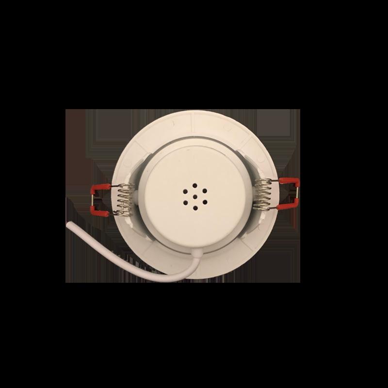 Kit 5 Spot Led Direcionável Redondo 3W Quente 3000K