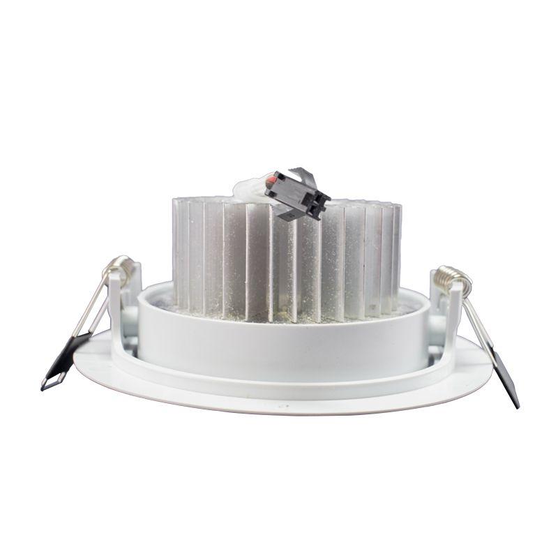 Kit 5 Spot Led Direcionável Redondo 7W Branco Frio 6000K
