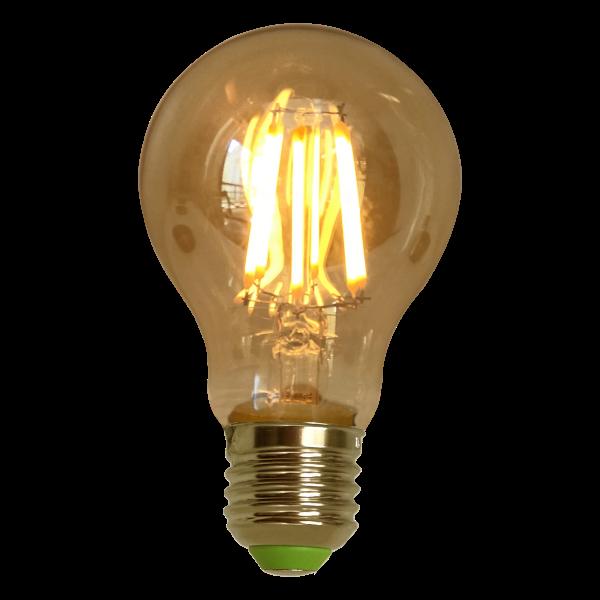 Lâmpada de Filamento de LED A19 Squirrel Cage Cage 4W 220V Dimerizável