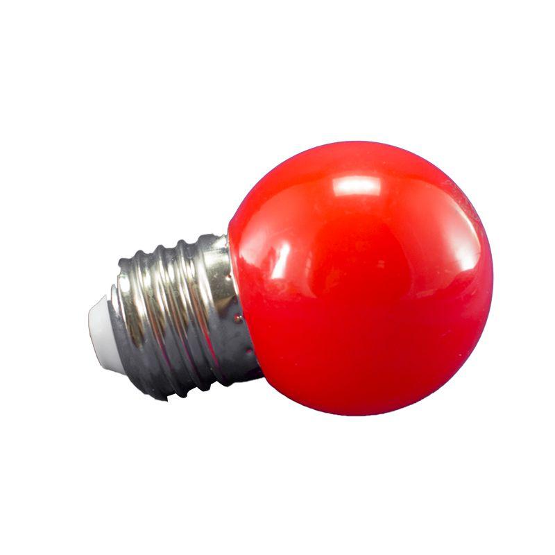 Lâmpada Led Bolinha 1W 110V Vermelho