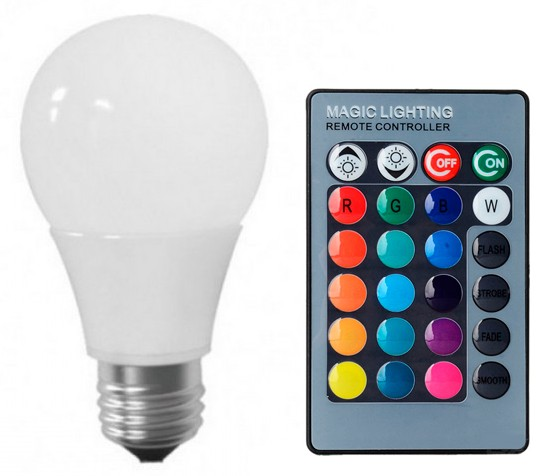 Lâmpada LED Bulbo 05W RGB