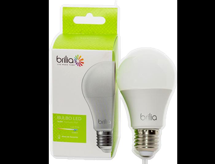 Lâmpada LED Bulbo Brilia 7W Branco Quente