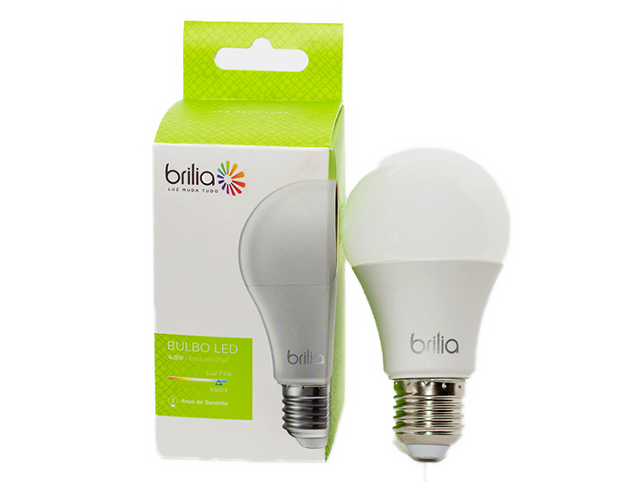 Lâmpada LED Bulbo Brilia 9W Branco Frio