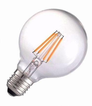 Lâmpada LED Filamento 4W G95 Âmbar E27